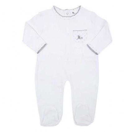 Pijama Bebé Estrellitas Blanco/Gris