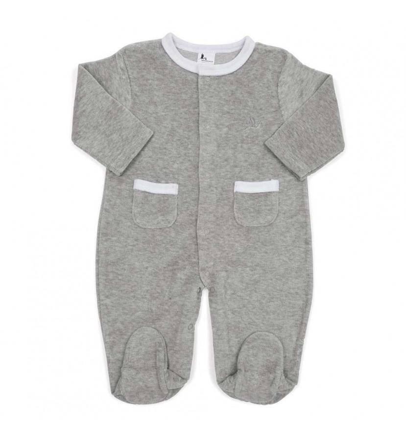 Pijama Soft Bebé Gris
