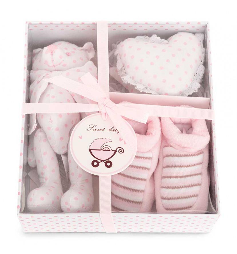 Set Regalo Bebé Osito Rosa Box