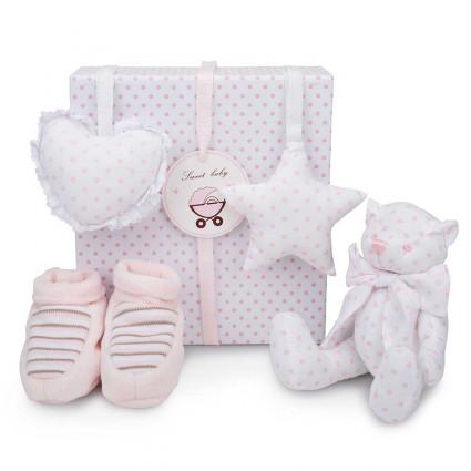 Set Regalo Bebé Osito Rosa