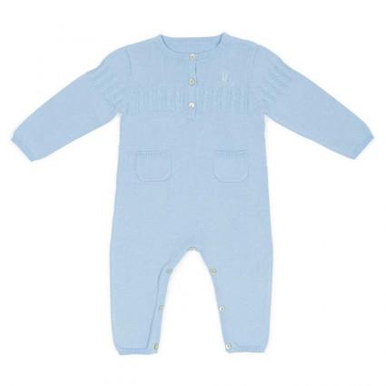 Mono Bebé Punto Clásico Azul
