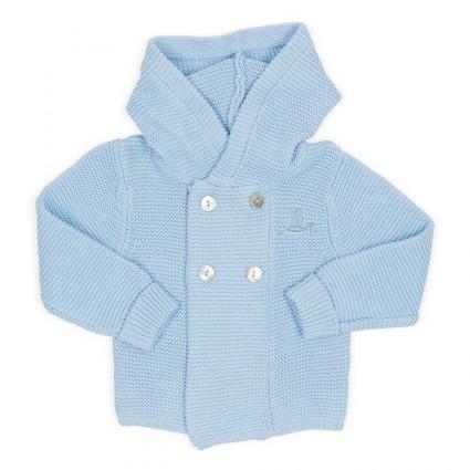 Chaqueta Bebé Clásica Punto Azul