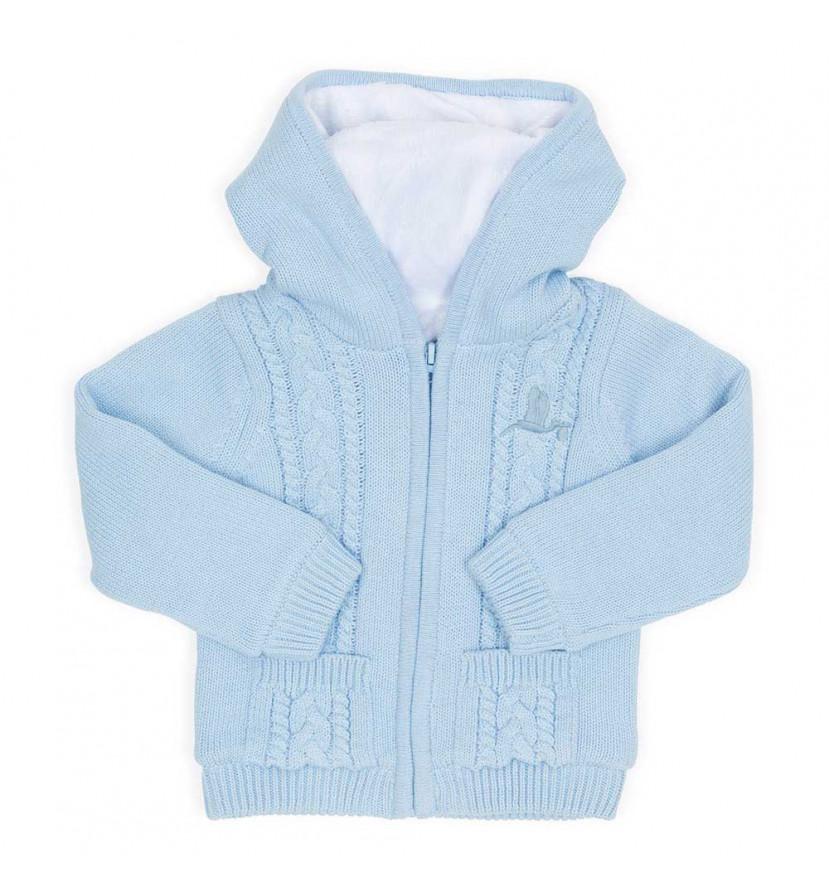 Chaqueta Polar Bebé Azul