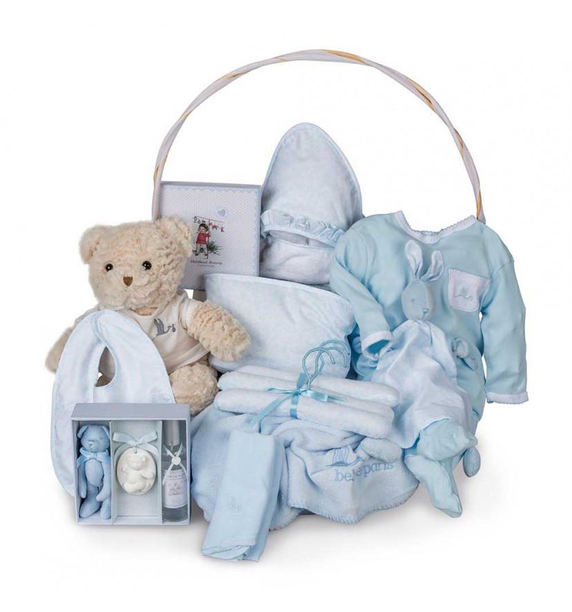Canastilla Bebé VIntage Ensueño Azul