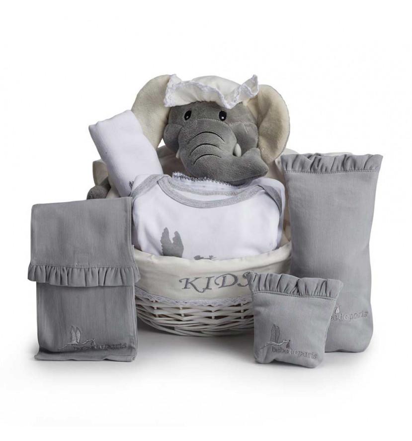 Canastilla post hospital esencial gris