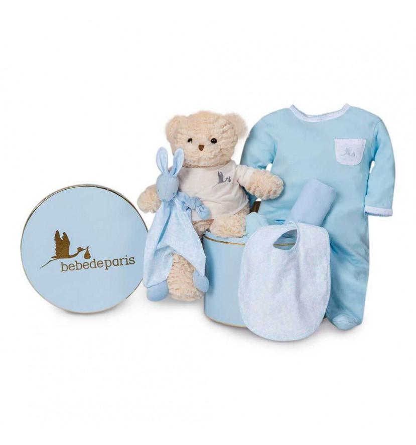 Cesta Bebé Vintage Esencial Azul
