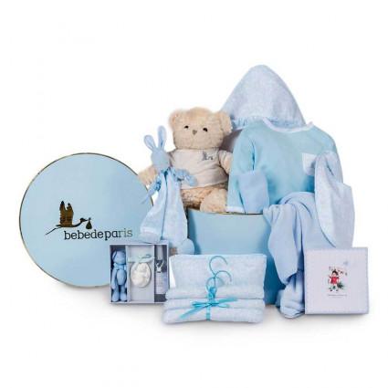 Cesta Bebé Vintage Ensueño Azul