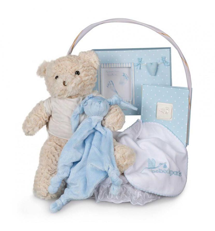 Canastilla Bebé Memories Esencial Azul