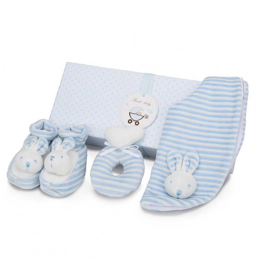 Set Regalo Bebé Conejito Azul