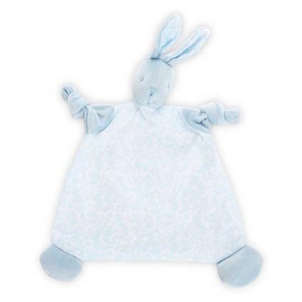 Doudou Bebé Conejito Vintage Azul