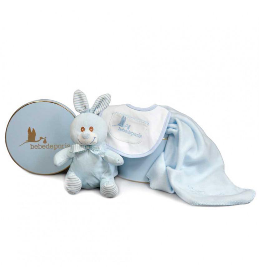 Regalo Bebé Manta Conejito Azul