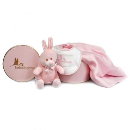 Regalo Bebé Manta Conejito Rosa
