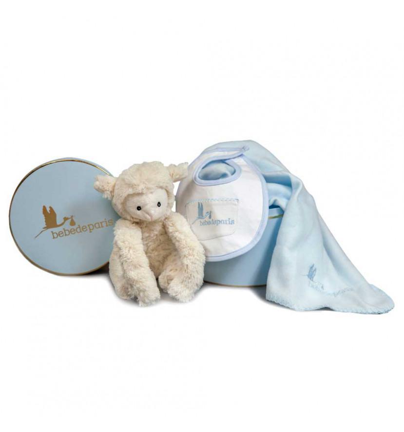 Regalo Bebé Manta Corderito Azul