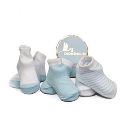 cajita regalo calcetines pack azul