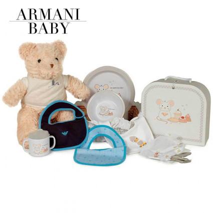 Canastilla Bebé Armani Mi Primera Vajilla