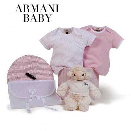 Canastilla Armani Baby Basics rosa