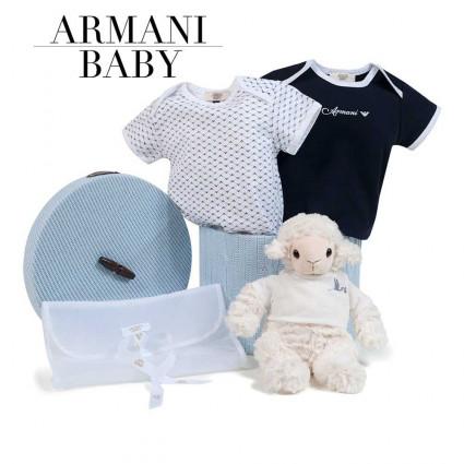 Canastilla Armani Baby Basics azul
