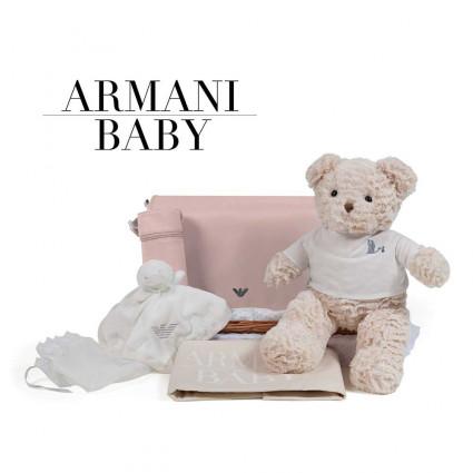 Canastilla Armani Baby Travel Rosa