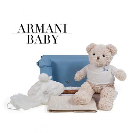 Canastilla Armani Baby Travel Azul