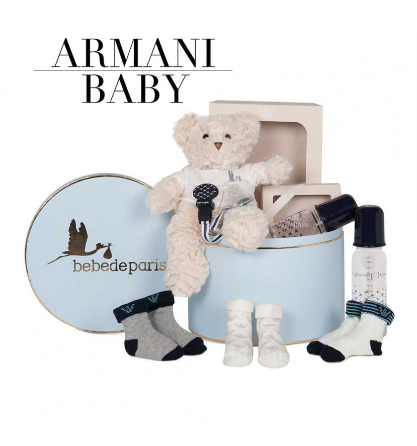Canastilla Armani Baby Essentials azul