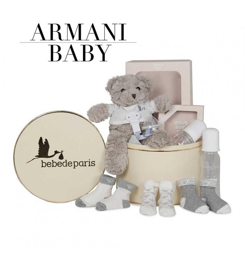 Canastilla Armani Baby Essentials gris
