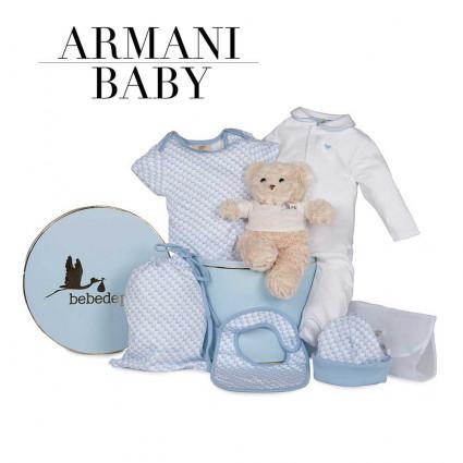 Canastilla Armani Baby azul
