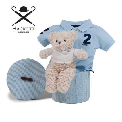 Canastilla Bebé Hackett Polo Azul