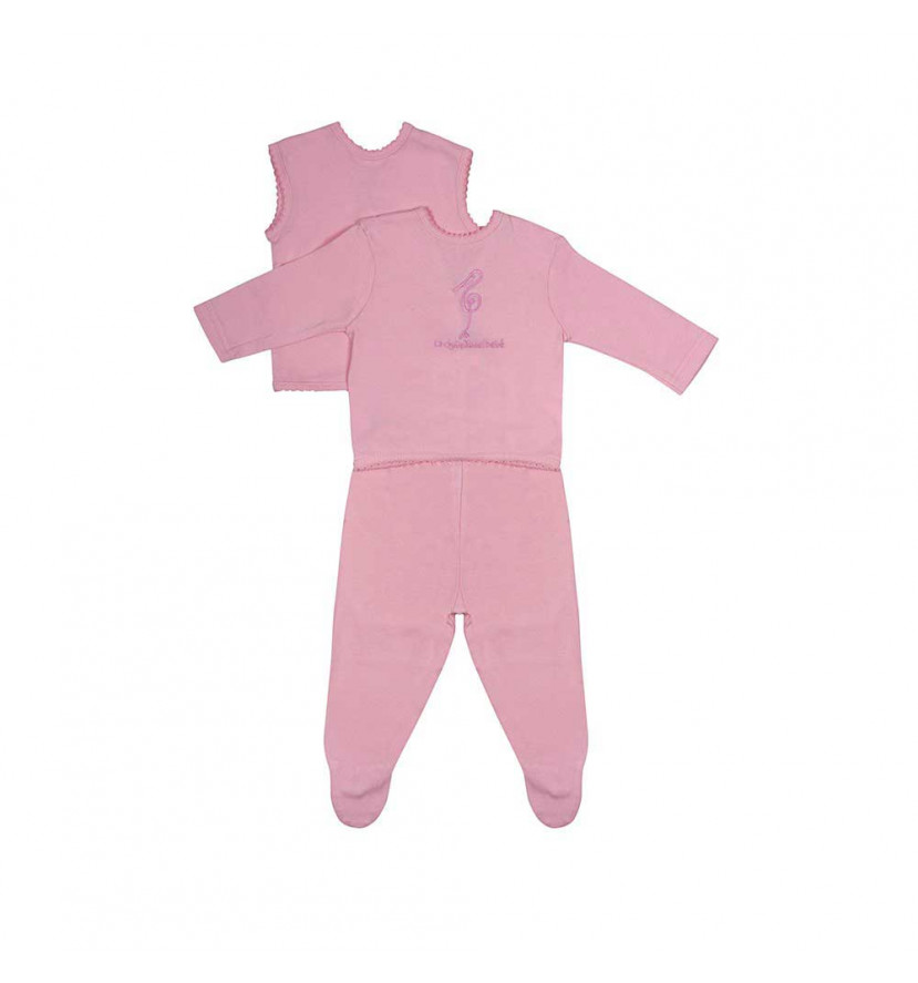 Conjunto Bebé Basic Rosa