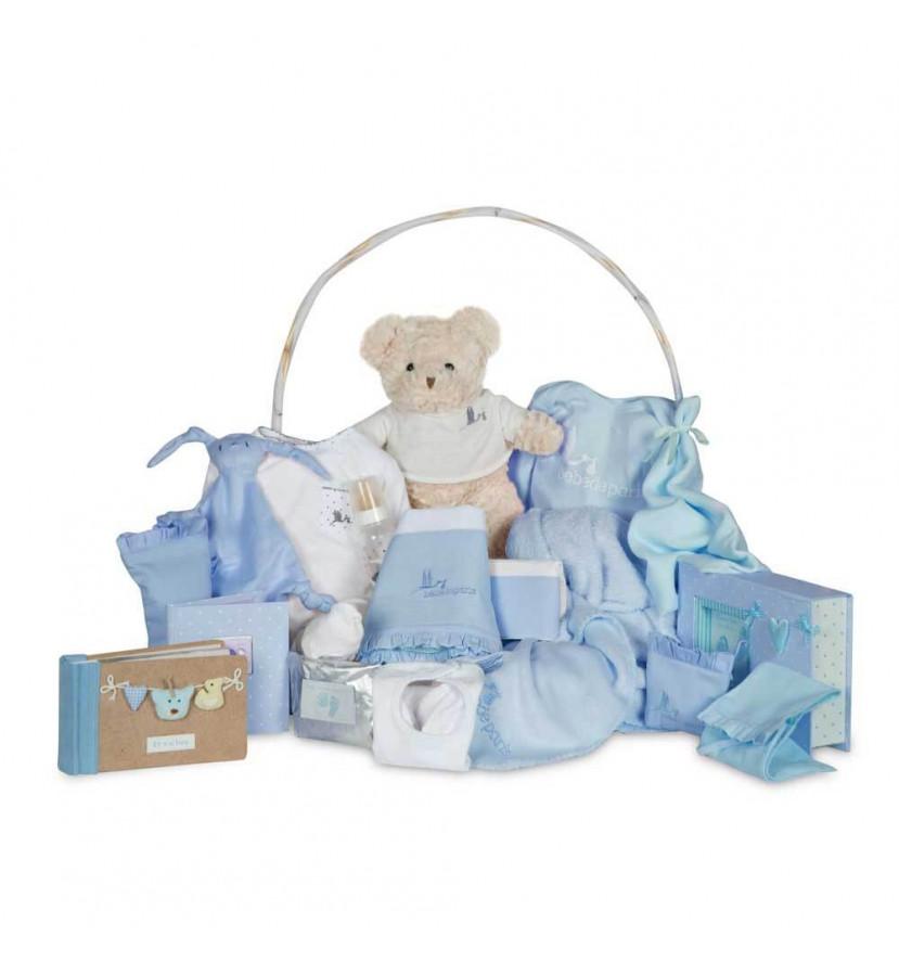 Canastilla Bebé Memories Ensueño Azul