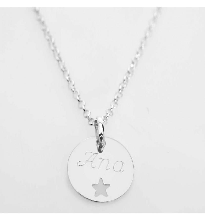 Colgante personalizado estrella plata