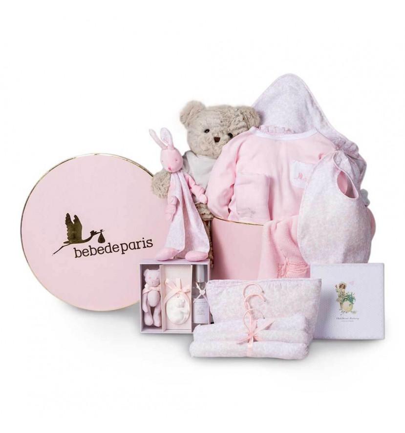 Cesta Bebé Vintage Ensueño rosa