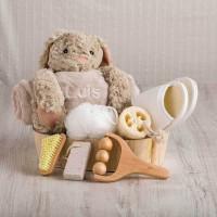 cesta regalo mimos esencial para mama y bebe