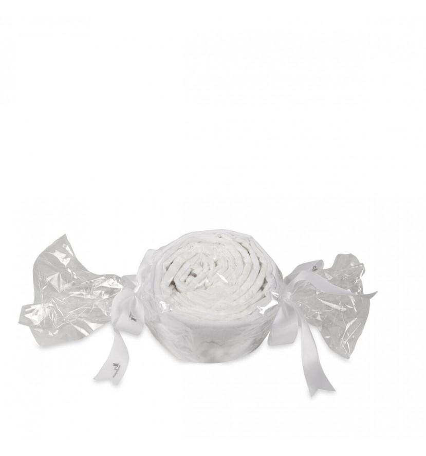 Tarta de pañales caramelo y chupete personalizado gris
