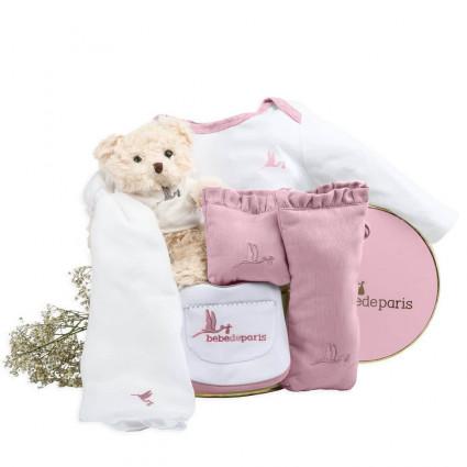 Canastilla Bebé Complementos Básicos rosa