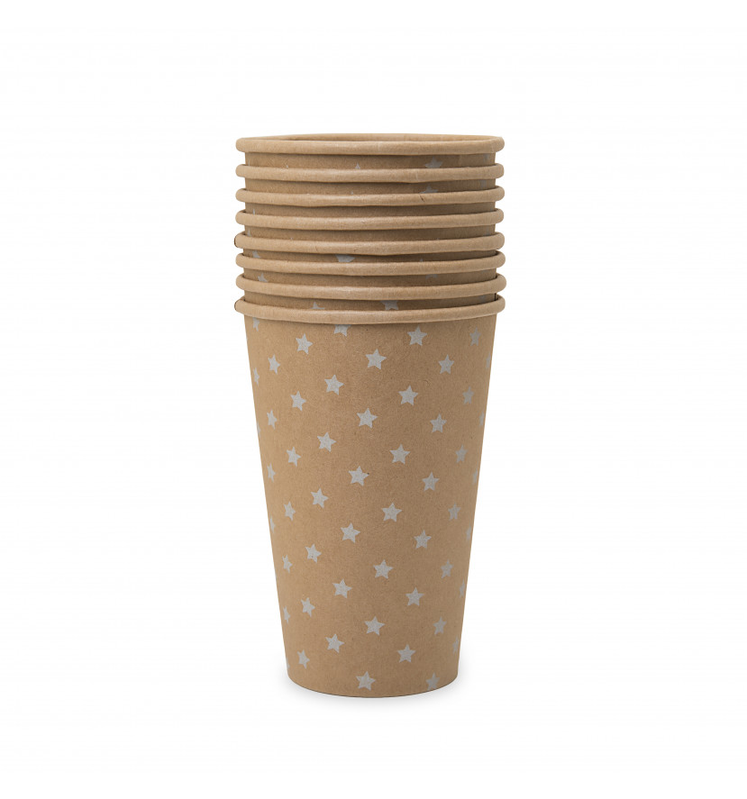 Vasos baby shower beige