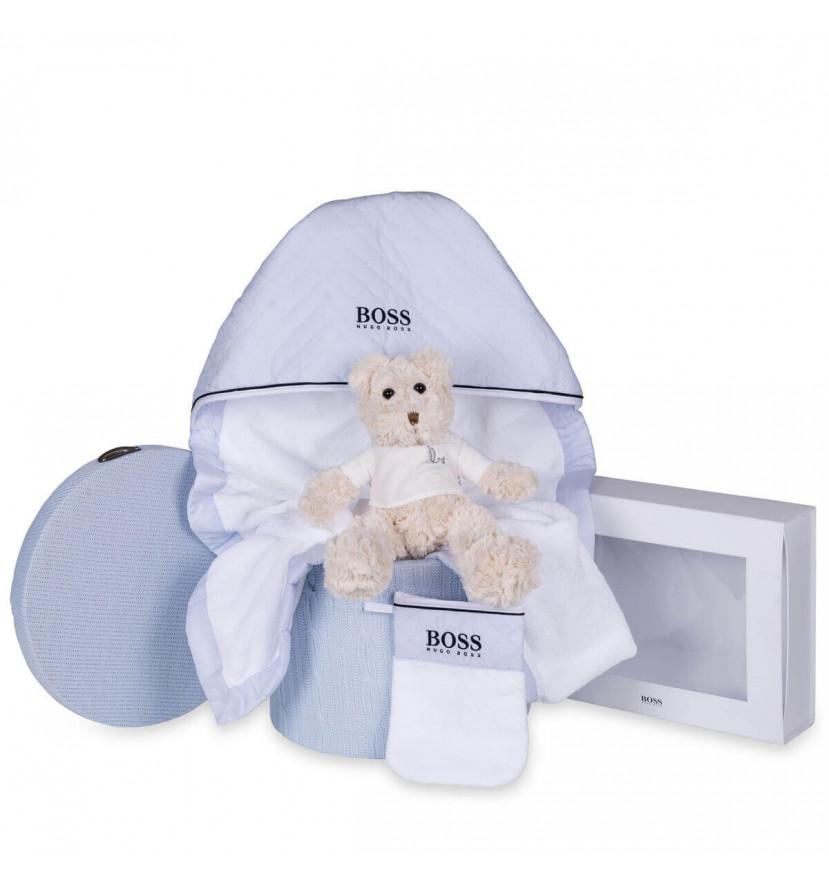 Canastilla bebé baño Hugo Boss