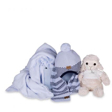 regalo bebé Set Gorrito y Bufanda Lana Hugo Boss