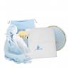 Canastilla Bebé Hora del Baño azul
