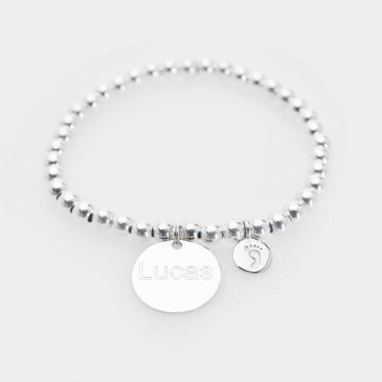 Pulsera personalizada nombre plata