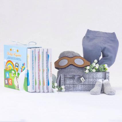 Kit Regalo Bebé Libros Leotardo y Calcetines