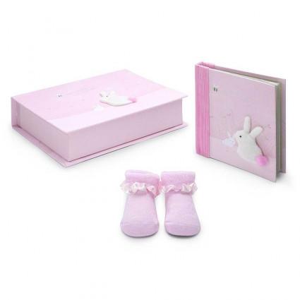 Set Regalo Bebé Bunny rosa